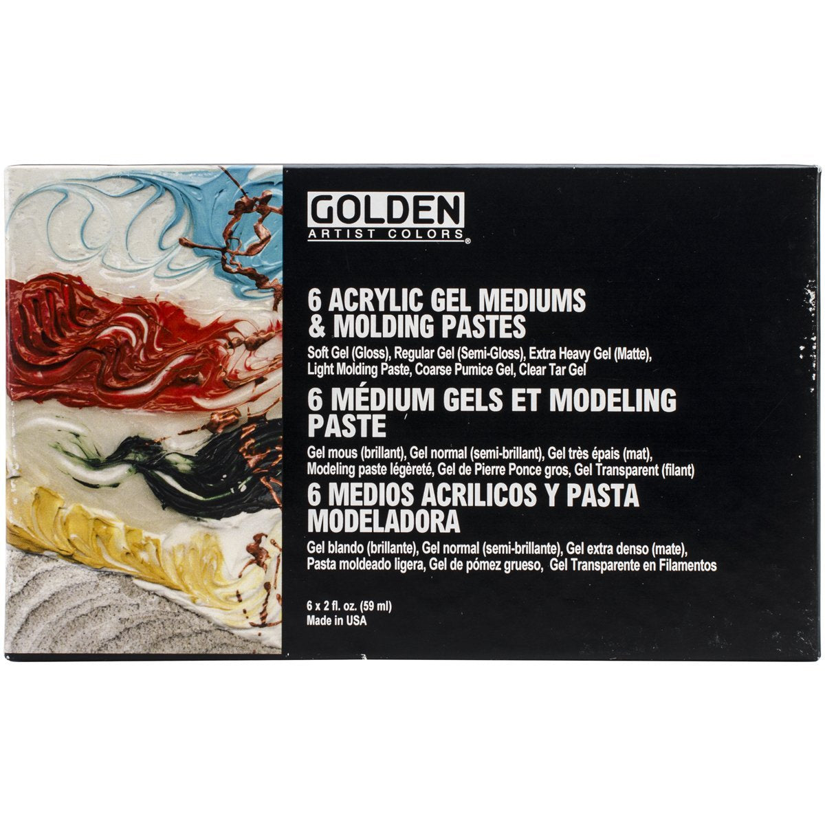 Golden Introductory Gel Mediums and Modeling Pastes Set