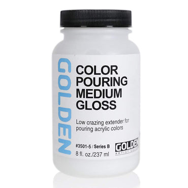 GOLDEN Acrylic Color Pouring Medium Gloss (237 ML) Get Free Golden Fluid Acrylic 15 ml Paints Worth Rs. 300