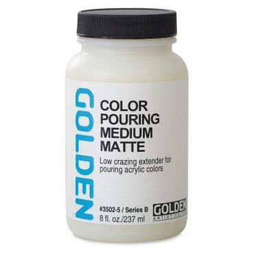 Golden Acrylic Color Pouring Medium Matte (237 ML) Get Free Golden Fluid Acrylic 15 ml Paints Worth Rs. 300