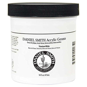 Daniel Smith Original Acrylic Gesso, Titanium White, 16oz Pint