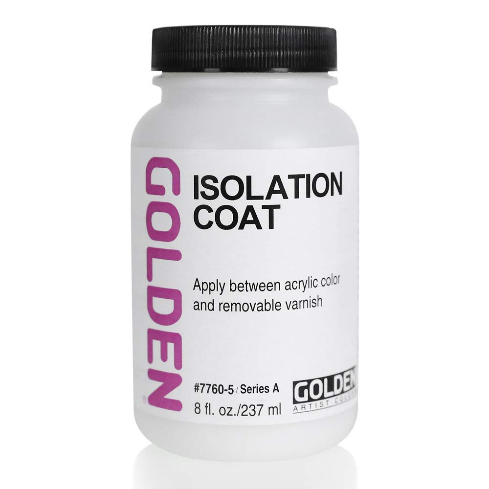 Golden Artist Colors Isolation Coat, to Unify and Protect The Painting Surface, 8 Ounce jar