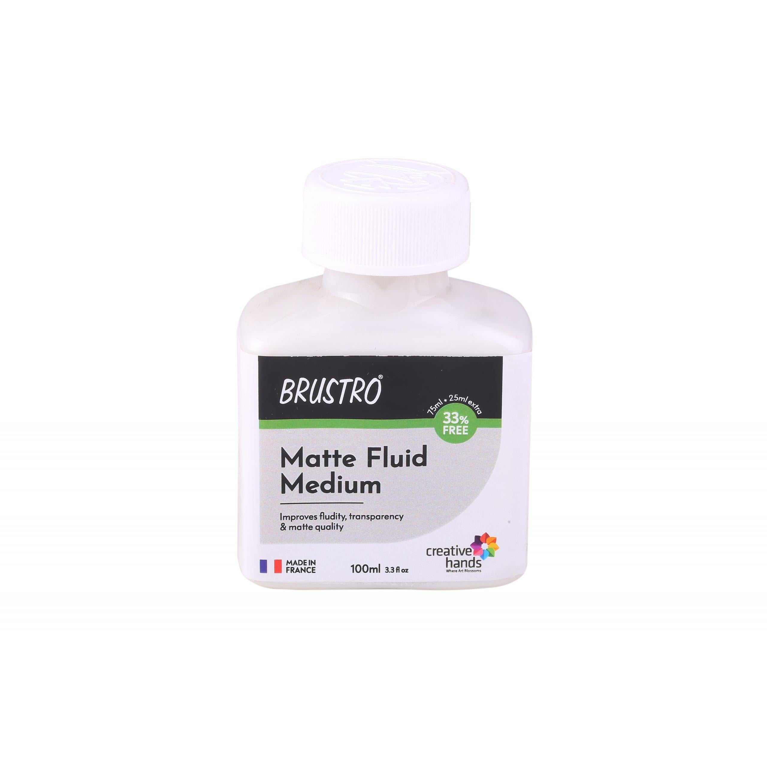 Brustro Professional Matte Fluid Medium 100ml (75ml + 25ml Free)