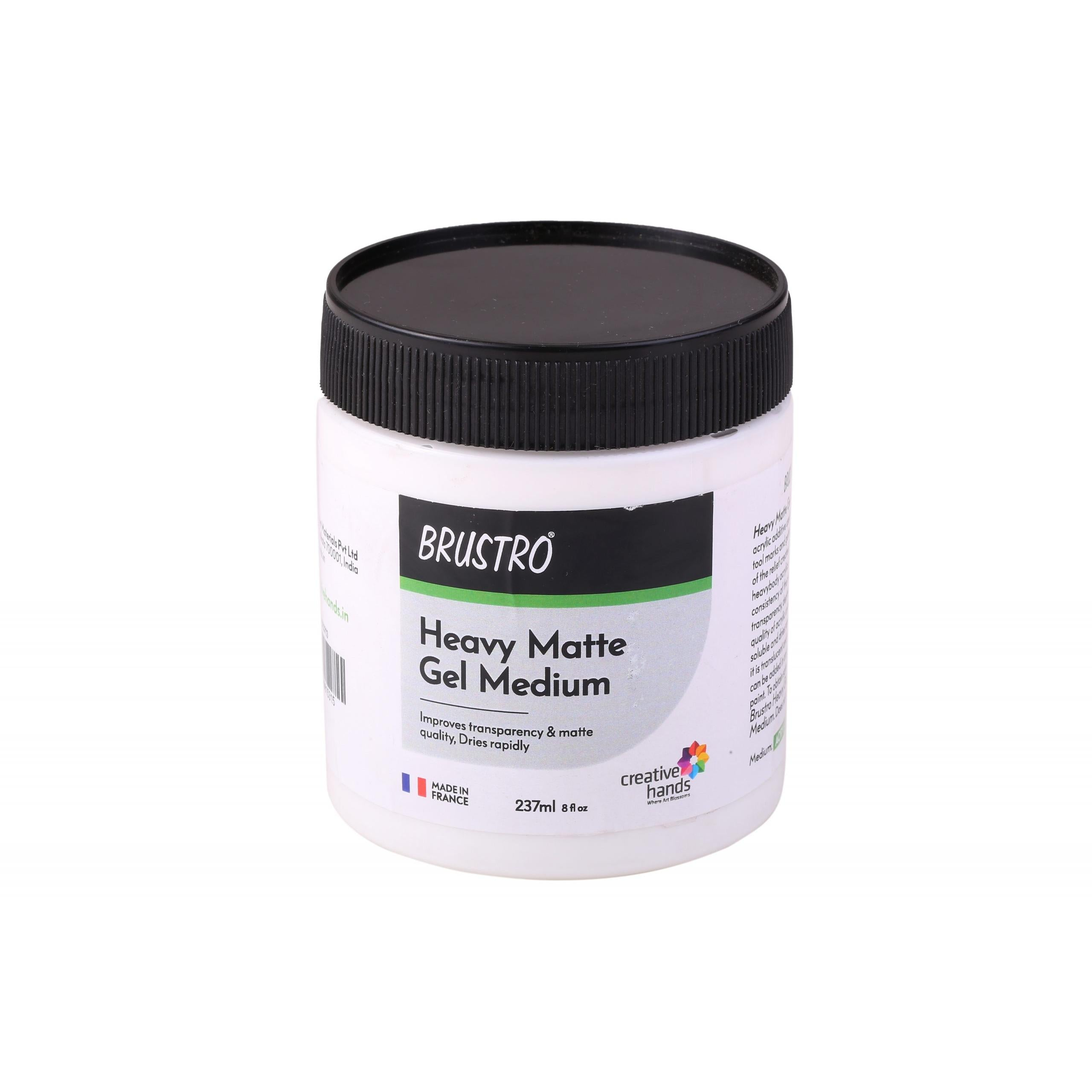 Brustro Professional Heavy Matte Gel Medium 237ml