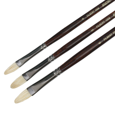 Brustro Artists Bristle White Filbert Brush Series 1008 (Open Stock)