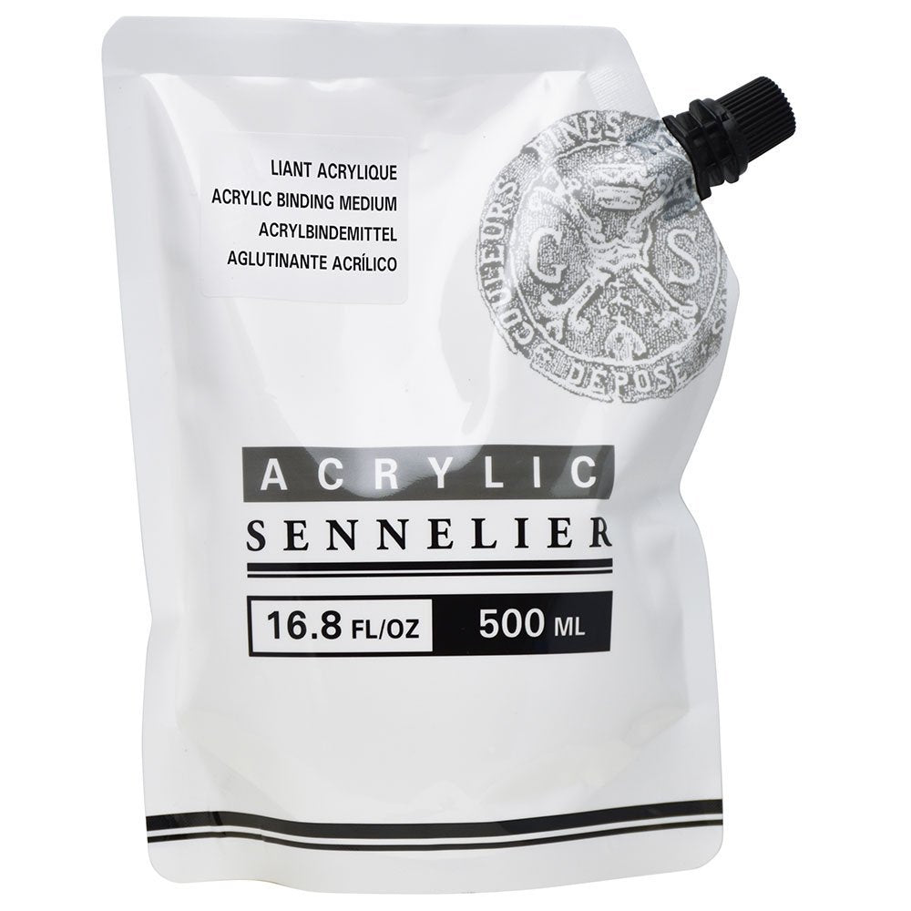Sennelier Acrylic Binding Medium 500 ml Pouch