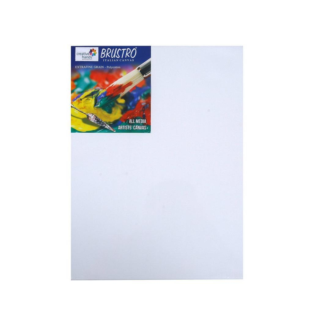 Try It ! Brustro Polycotton Stretched Canvas ( Extra fine grain) 12