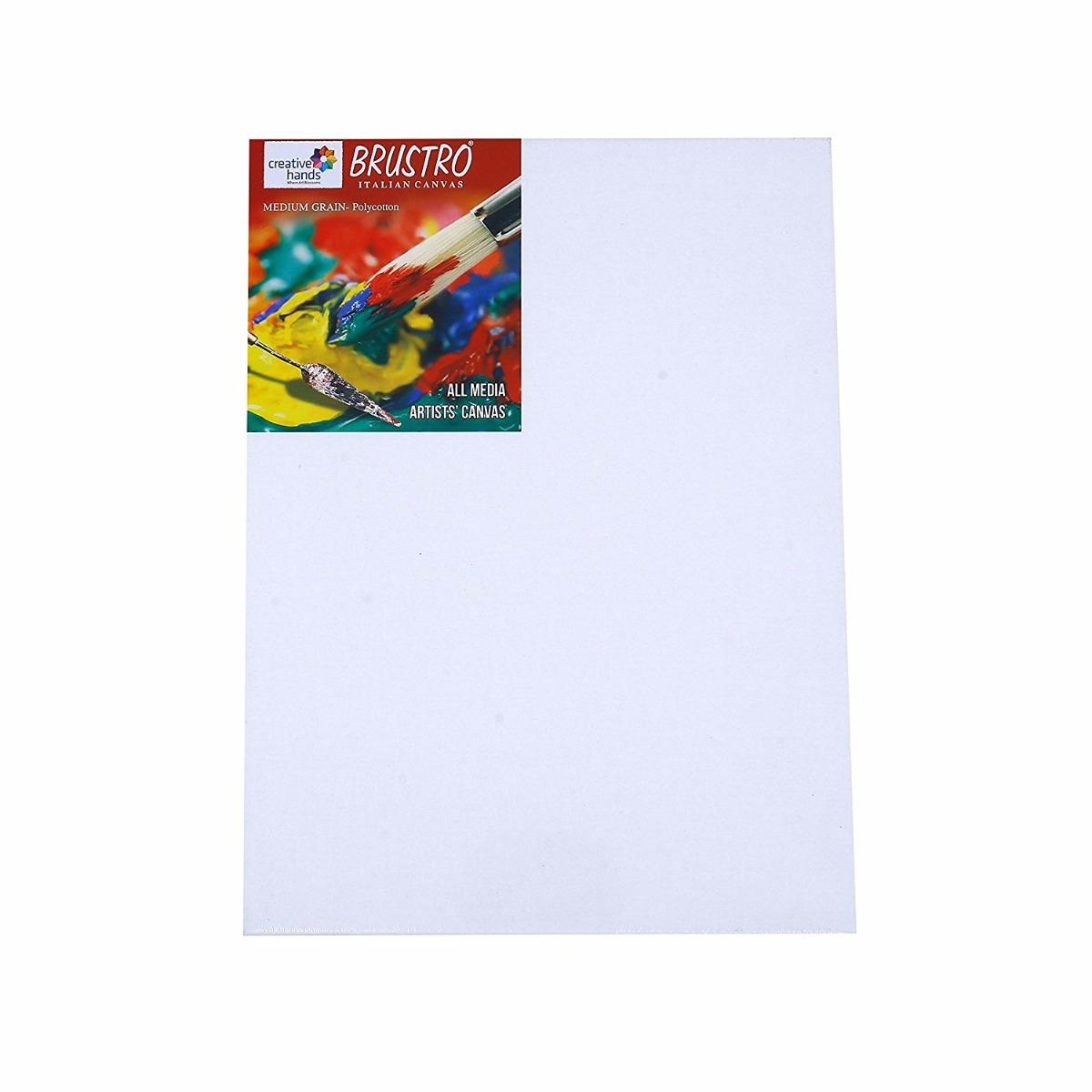 Try It ! Brustro Stretched Medium Grain Canvas (Regular 12