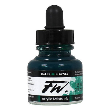 Try It ! Daler-Rowney FW Ink 29.5ML (Dark Green)