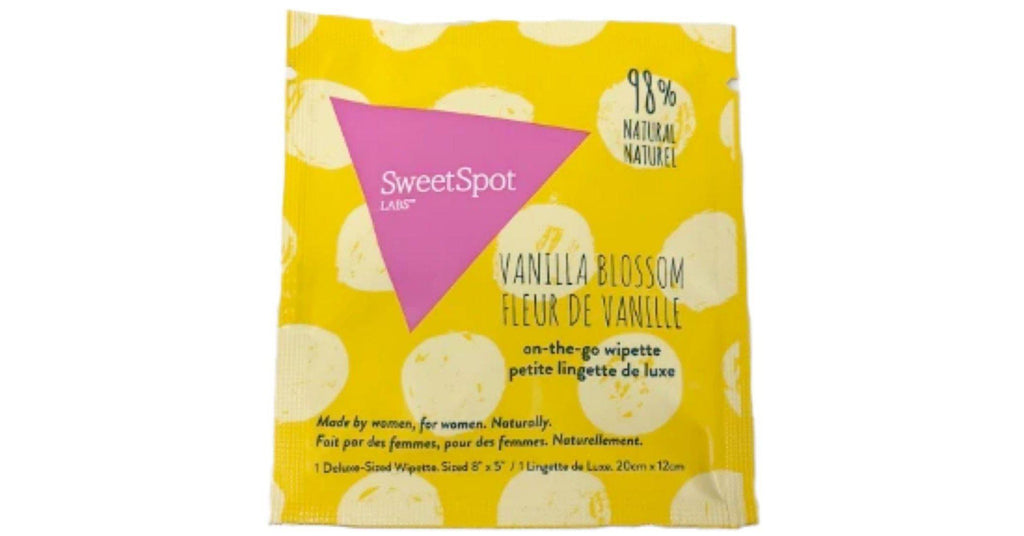 SweetSpot Vanilla Blossom On-The-Go Feminine Wipettes (10/pk)