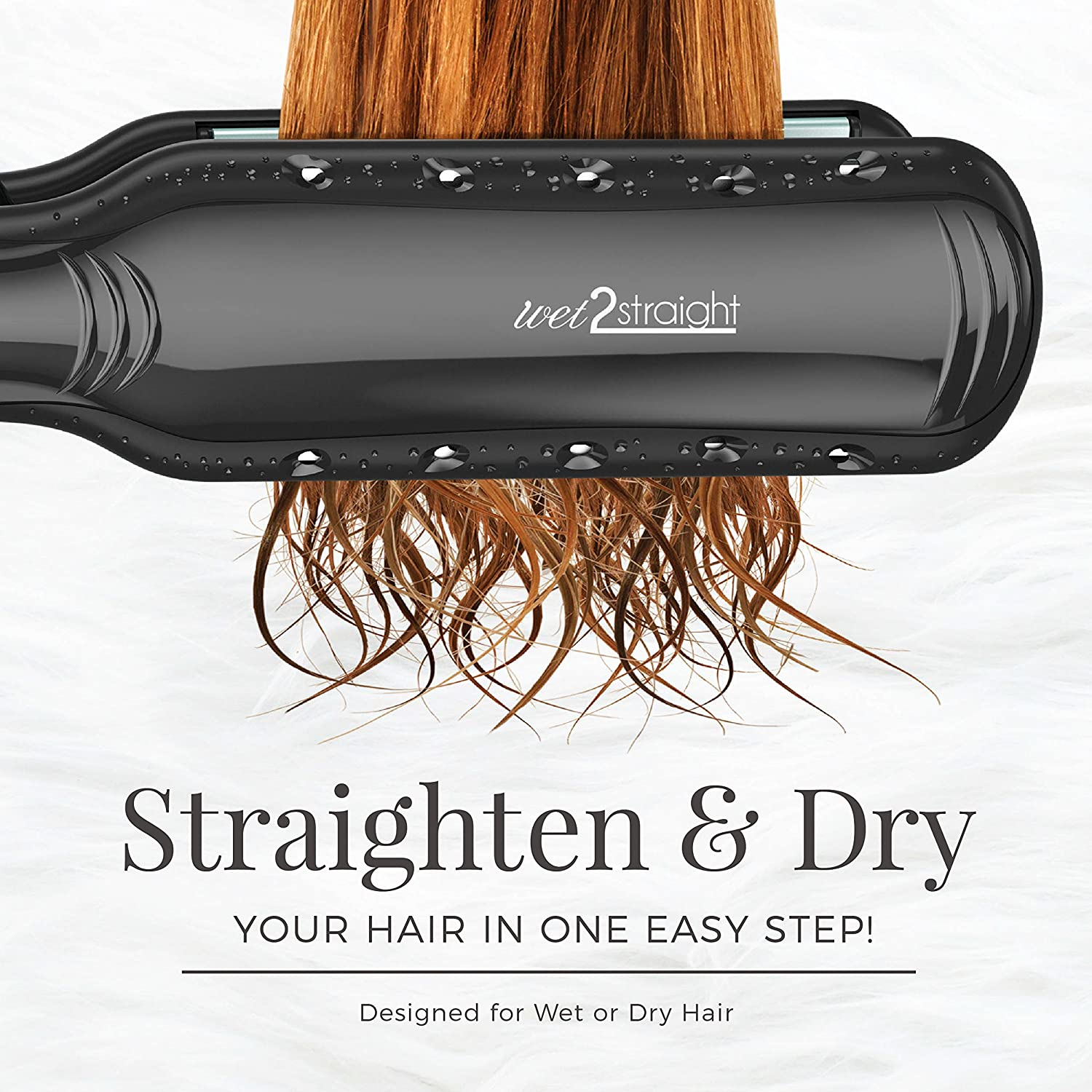 Wet2Straight S7350 Wide Plate Hair Straightener | Remington