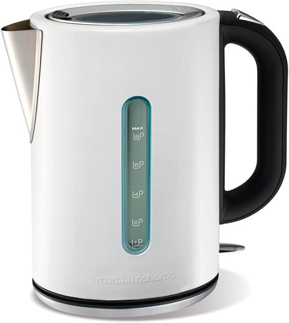 Jug Kettle Elipta White Stainless Steel | Morphy Richards.