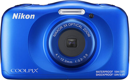 Coolpix W150 Digital Camera Blue Front View