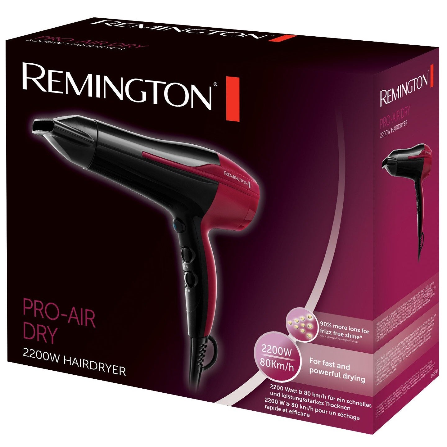 PRO Air Dry Hair Dryer D5950 | Remington