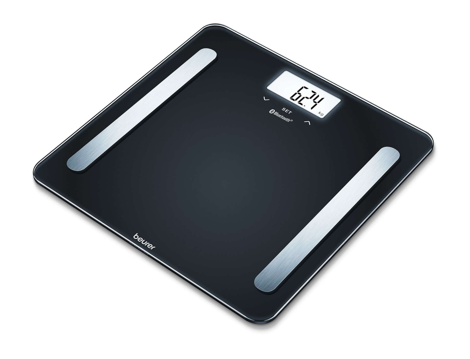 Diagnostic Bathroom Scale BF 600 Pure Black | Beurer