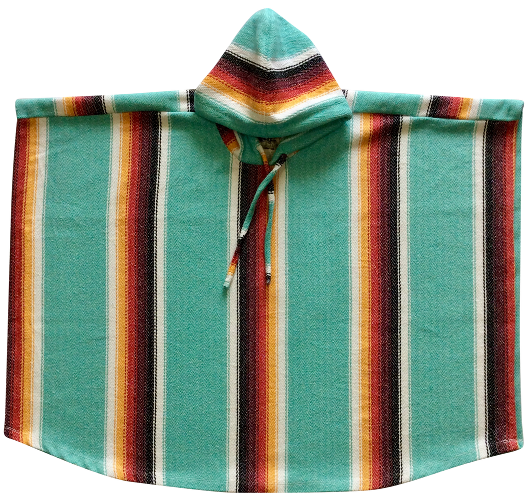Poncho Hoodie - Redondo Teal