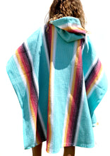 Load image into Gallery viewer, Poncho Hoodie - Redondo Teal