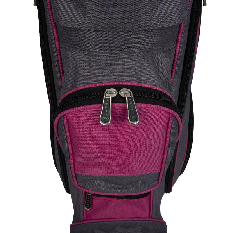 Nancy Lopez Golf Ashley Heather Package Set Dark Grey/Pink (Left Hand)