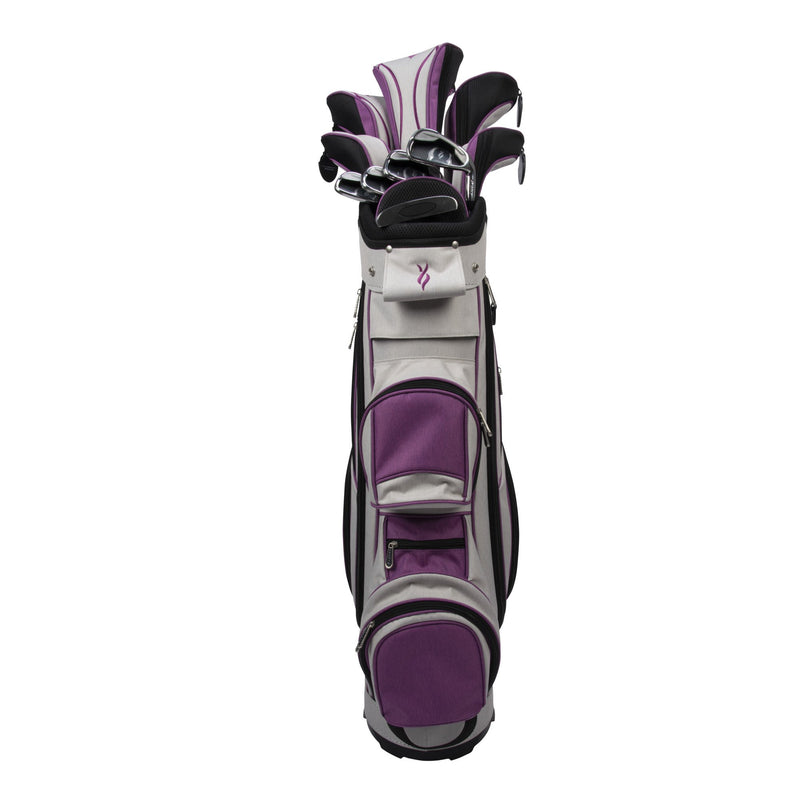 Nancy Lopez Golf Ashley Heather Package Set Grey/Purple (Left Hand) Pacific Golf Warehouse Nancy Lopez nancylopezgolf, Package Sets