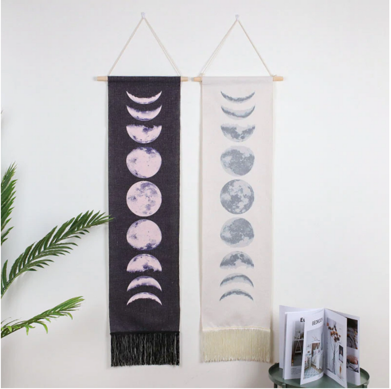 Moon Phase Cloth Hanging