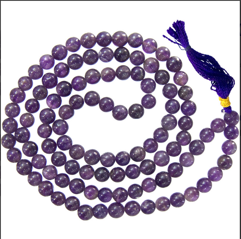 Amethyst Mala Prayer Beads