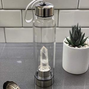 Clear Quartz Water Bottle