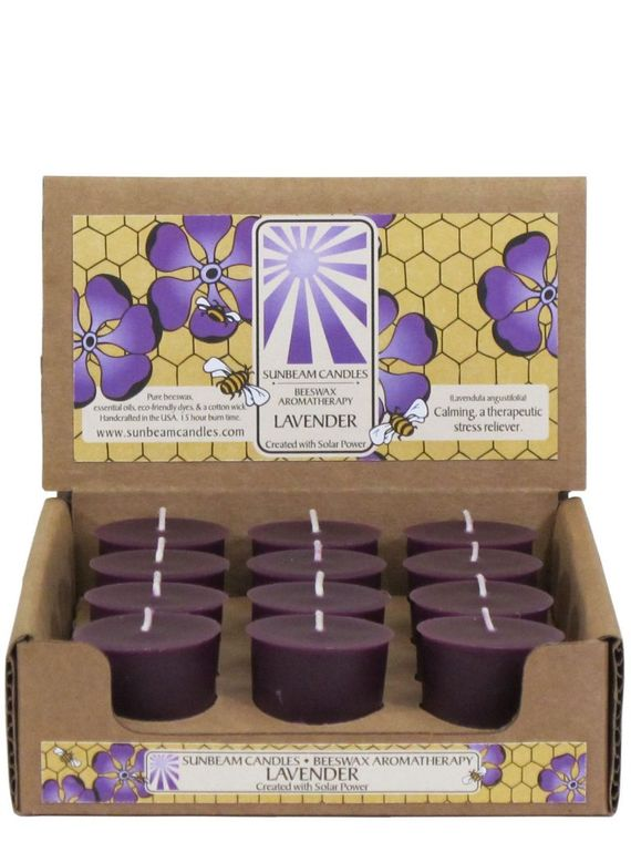Lavender Beeswax Votive Candles