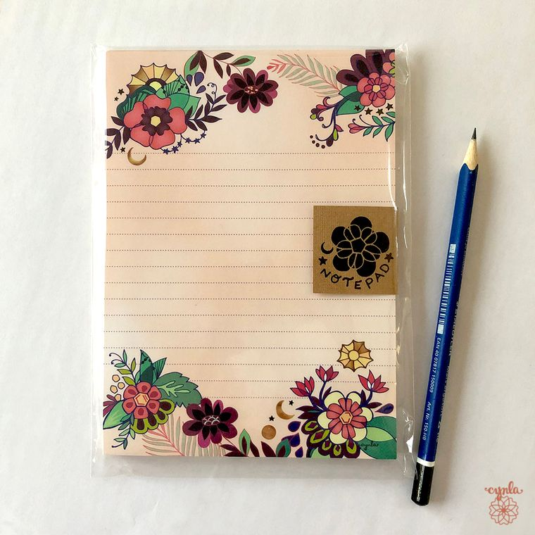 Moon Flower Notepad