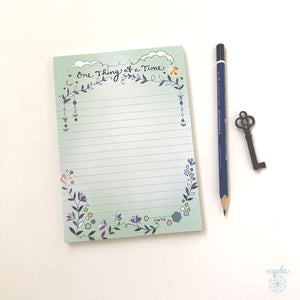 One Thing at a Time Notepad