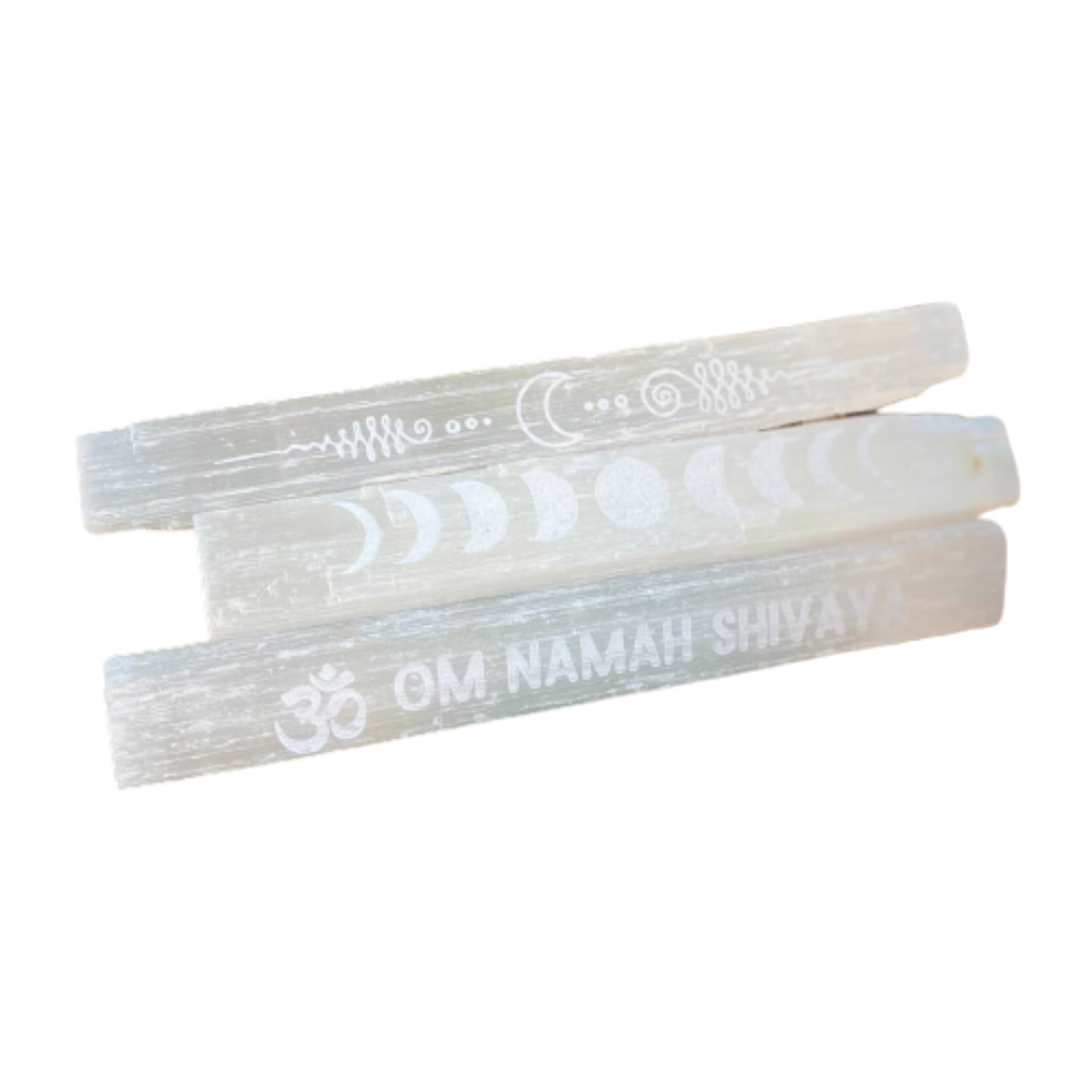 Engraved Selenite Wands