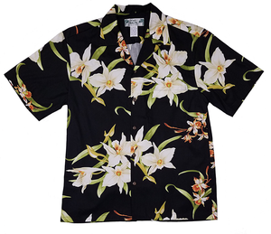 Men's Orchids Black Shirt