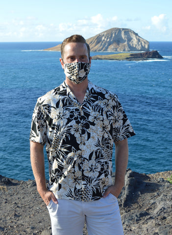 Men's Pineapple Garden Shirt & Face Mask