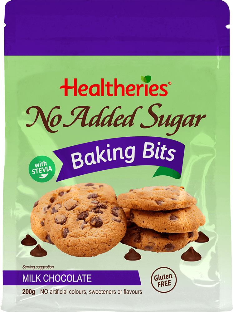 Healtheries No Added Sugar Milk Chocolate Baking Bits 200g