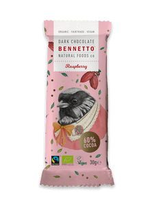 Bennetto Raspberry Dark Chocolate Mini Bar 30g