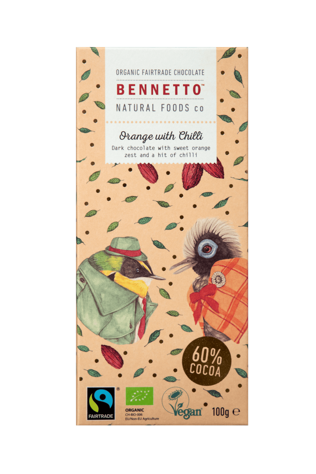 Bennetto Orange & Chilli Chocolate 100g