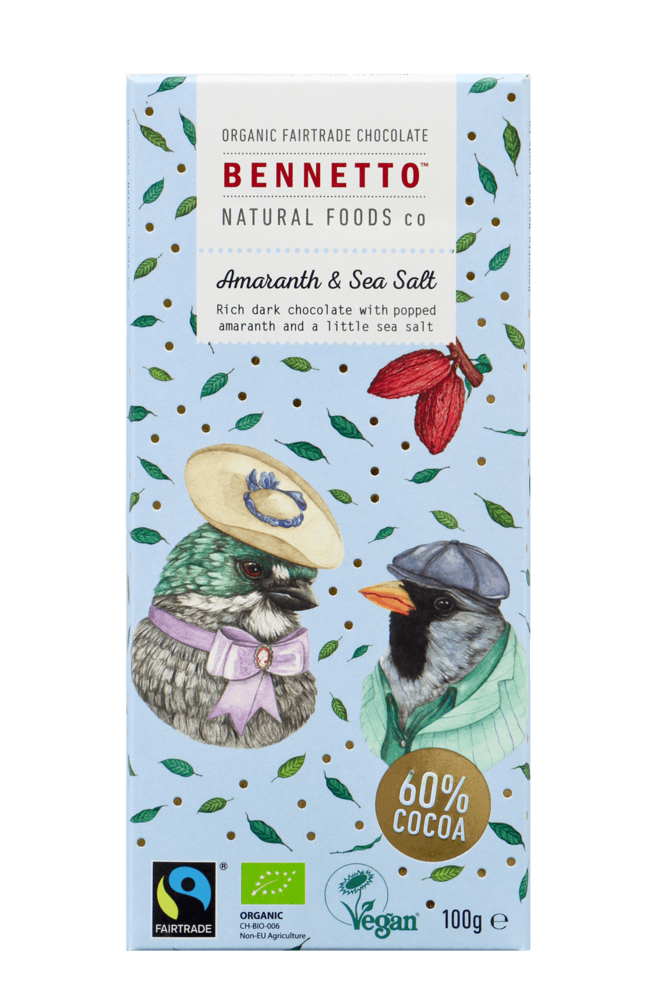 Bennetto Chocolate Amaranth And Sea Salt 100g