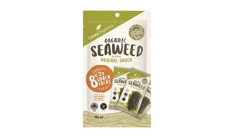 Ceres Organics Roasted Seaweed Multipack Natural 8x2g  - NEW!