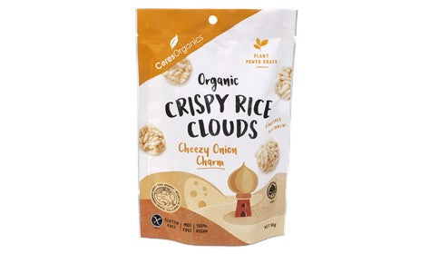 Ceres Organics Rice Clouds Cheezy Onion Charm 50g