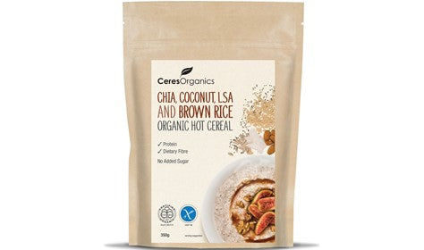 Ceres Organics Hot Cereal Chia, Coconut, LSA & Brown Rice 350g