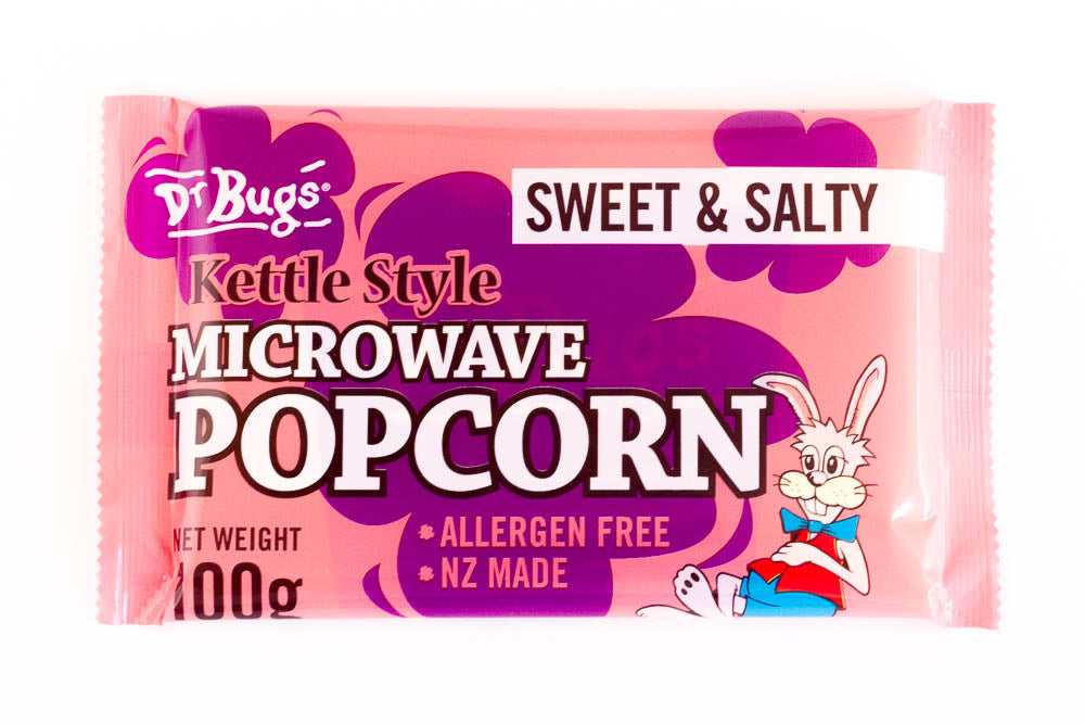 Dr Bugs Microwave Popcorn Sweet & Salty 100g