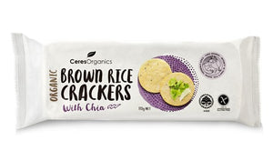 Ceres Organics Rice Crackers chia 115g