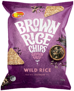 Sunrice Brown Rice Chips Wild Rice 150g