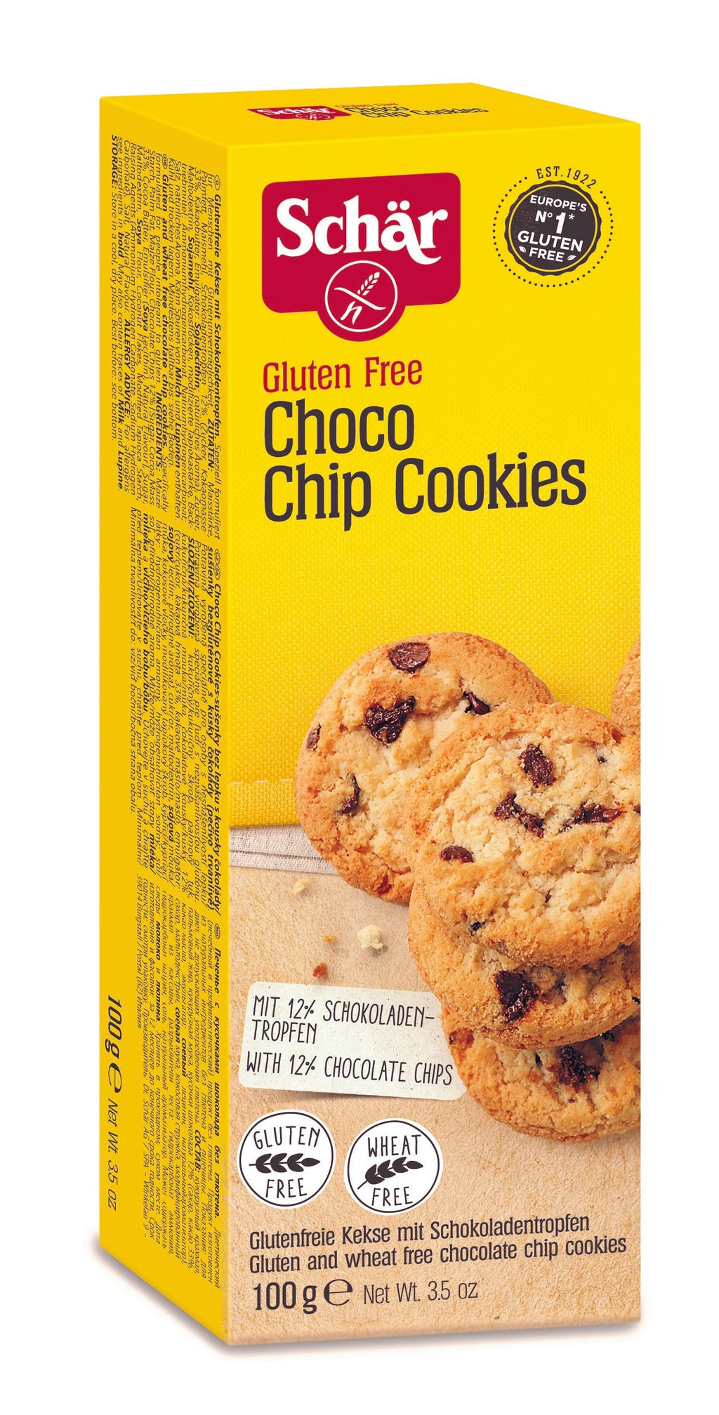 Schar Choco Chip Cookie 100g (10/12/2020)