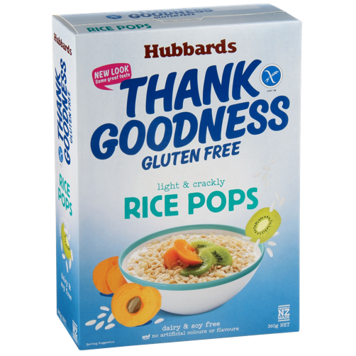 Hubbards Thank Goodness Gluten Free Rice Pops 360g (25/04/2021)