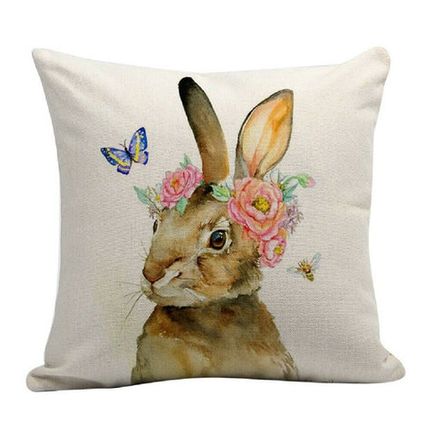 Coussin Lapin Dessin