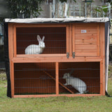 bache protection cage lapin