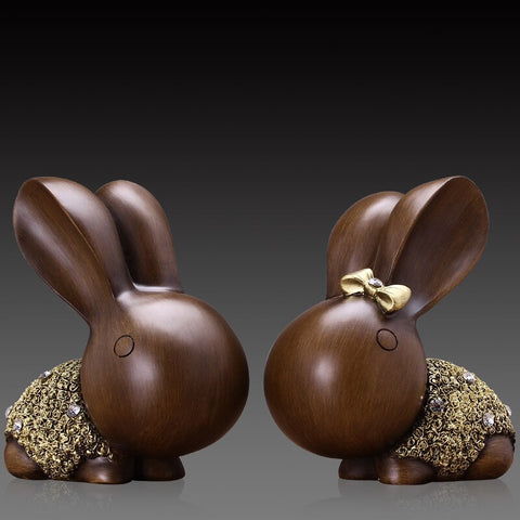 Statue Lapin Couple