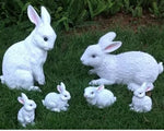 Statue Lapin Famille