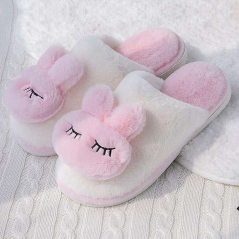 chausson fille lapin rose
