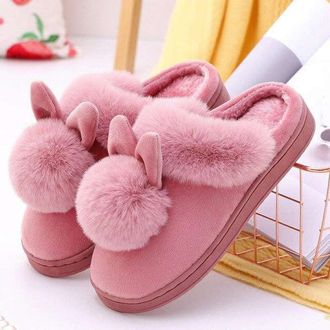 chaussons lapin femme