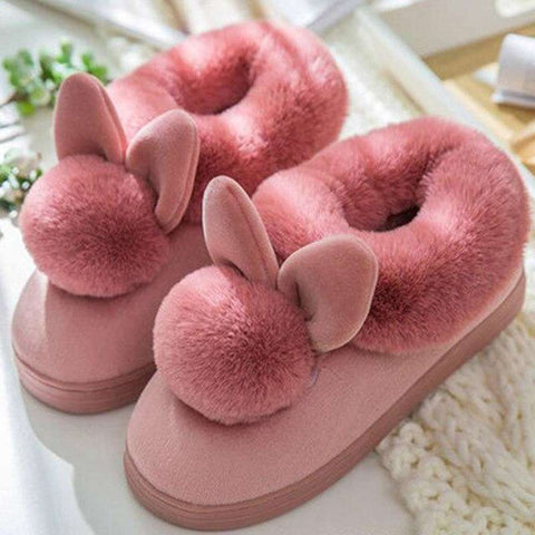 chaussons lapin adulte